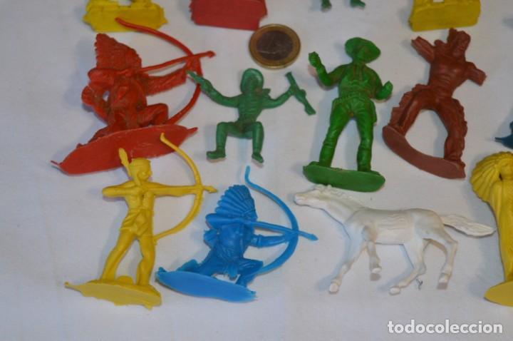 Figuras de Goma y PVC: INDIOS y VAQUEROS, 75 piezas / Plástico/PVC - COMANSI, OLIVER, PUIG, PECH, JECSAN, otras ... ¡Mira! - Foto 14 - 212714138