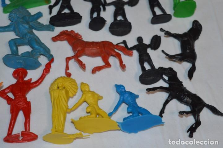 Figuras de Goma y PVC: INDIOS y VAQUEROS, 75 piezas / Plástico/PVC - COMANSI, OLIVER, PUIG, PECH, JECSAN, otras ... ¡Mira! - Foto 17 - 212714138