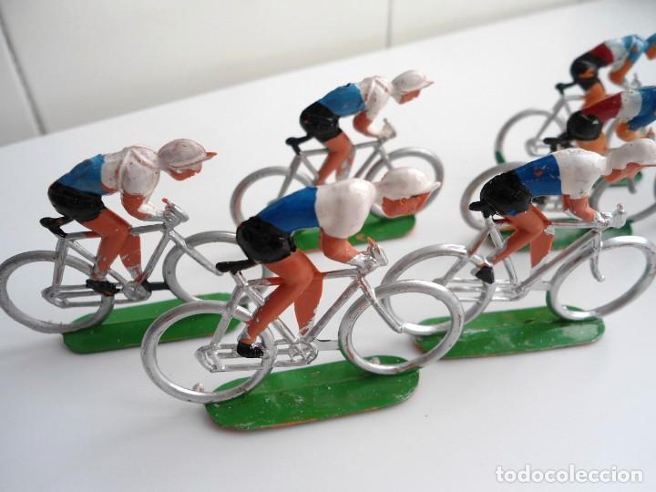 Figuras de Goma y PVC: LOTE 12 FIGURAS DE PLASTICO DE SOTORRES - PELOTON CICLISTAS - VUELTA CICLISTA - AÑOS 60 - Foto 7 - 212724991