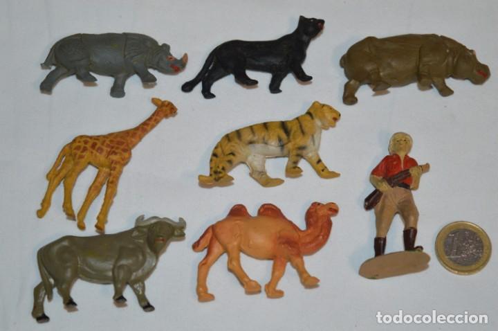 CAZADOR Y ANIMALES FIERAS / EN GOMA - TEIXIDO, OLIVER, PUIG, PECH, JECSAN, OTRAS ... ¡MIRA FOTOS! (Juguetes - Figuras de Goma y Pvc - Otras)