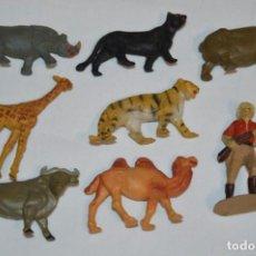Figuras de Goma y PVC: CAZADOR Y ANIMALES FIERAS / EN GOMA - TEIXIDO, OLIVER, PUIG, PECH, JECSAN, OTRAS ... ¡MIRA FOTOS!. Lote 212767993