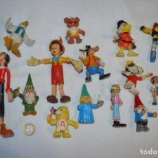 Figuras de Goma y PVC: LOTE DE 15 FIGURAS VARIADAS, DE GOMA / DIFERENTES PERSONAJES Y MARCAS ¡MIRA FOTOS Y DETALLES!. Lote 212785710