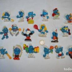 Figuras de Goma y PVC: LOTE PITUFOS / 24 FIGURAS VARIADAS, DE GOMA / DIFERENTES PERSONAJES Y MARCAS ¡MIRA FOTOS Y DETALLES!. Lote 212787013