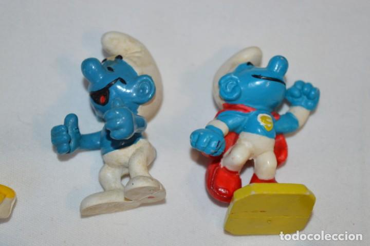 Figuras de Goma y PVC: Lote PITUFOS / 24 figuras variadas, de GOMA / Diferentes personajes y marcas ¡Mira fotos y detalles! - Foto 3 - 212787013