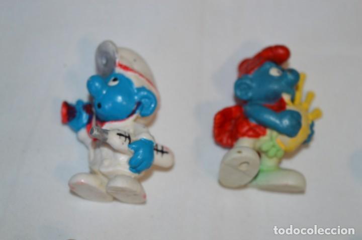 Figuras de Goma y PVC: Lote PITUFOS / 24 figuras variadas, de GOMA / Diferentes personajes y marcas ¡Mira fotos y detalles! - Foto 4 - 212787013