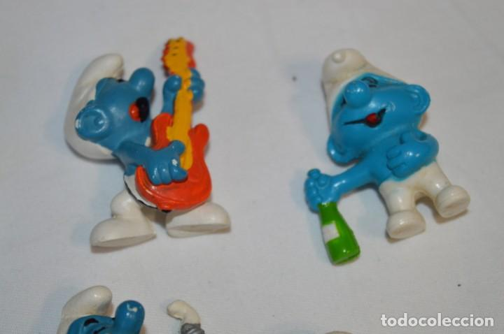 Figuras de Goma y PVC: Lote PITUFOS / 24 figuras variadas, de GOMA / Diferentes personajes y marcas ¡Mira fotos y detalles! - Foto 5 - 212787013