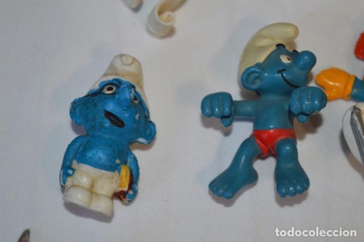 Figuras de Goma y PVC: Lote PITUFOS / 24 figuras variadas, de GOMA / Diferentes personajes y marcas ¡Mira fotos y detalles! - Foto 6 - 212787013