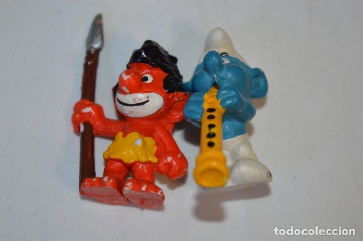 Figuras de Goma y PVC: Lote PITUFOS / 24 figuras variadas, de GOMA / Diferentes personajes y marcas ¡Mira fotos y detalles! - Foto 11 - 212787013