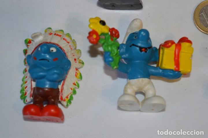 Figuras de Goma y PVC: Lote PITUFOS / 24 figuras variadas, de GOMA / Diferentes personajes y marcas ¡Mira fotos y detalles! - Foto 12 - 212787013