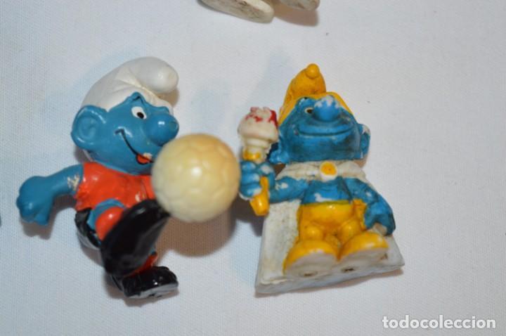 Figuras de Goma y PVC: Lote PITUFOS / 24 figuras variadas, de GOMA / Diferentes personajes y marcas ¡Mira fotos y detalles! - Foto 14 - 212787013