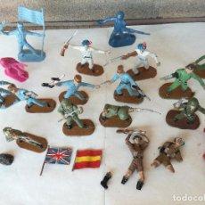 Figuras de Borracha e PVC: LOTE SOLDADOS DE GOMA VARIADOS II GUERRA MUNDIAL COMANSI - AÑOS 60-70. Lote 212806906