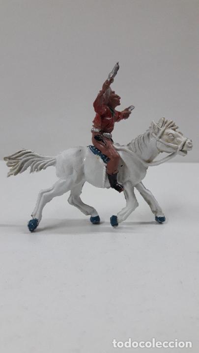 Figuras de Goma y PVC: VAQUERO A CABALLO . REALIZADO POR LAFREDO . AÑOS 50 EN GOMA , ALTURA A CABALLO 6,8 CM - Foto 5 - 212902636