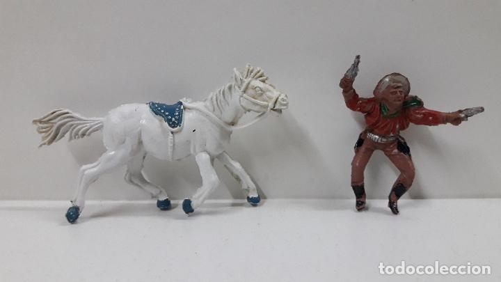 Figuras de Goma y PVC: VAQUERO A CABALLO . REALIZADO POR LAFREDO . AÑOS 50 EN GOMA , ALTURA A CABALLO 6,8 CM - Foto 7 - 212902636