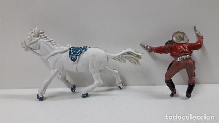 Figuras de Goma y PVC: VAQUERO A CABALLO . REALIZADO POR LAFREDO . AÑOS 50 EN GOMA , ALTURA A CABALLO 6,8 CM - Foto 8 - 212902636