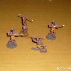 Figuras de Goma y PVC: LOTE 4 GUERREROS ARTICULADOS EN GOMA DA LA CASA GAMA. Lote 212934861