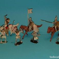 Figuras de Goma y PVC: SERIE COMPLETA CABALLEROS MEDIEVALES DE PECH (TIPO REAMSA, JECSAN, COMANSI), AÑOS 50.. Lote 212966638