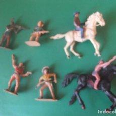 Figuras de Goma y PVC: ,OOTE INDIOS Y VAQUEROS NO SE MARCA MIRAR FOTOS. Lote 212976510