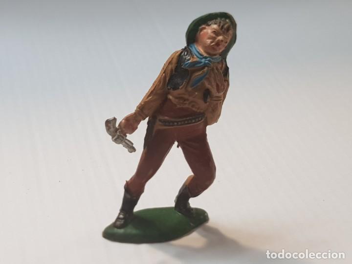 FIGURA VAQUERO HERIDO EN GOMA TEIXIDO ESCASA (Juguetes - Figuras de Goma y Pvc - Teixido)