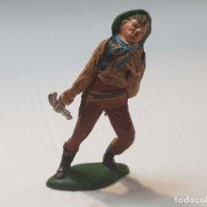 Figuras de Goma y PVC: FIGURA VAQUERO HERIDO EN GOMA TEIXIDO ESCASA. Lote 213101042