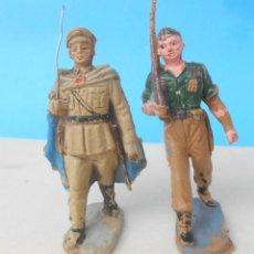 Figuras de Goma y PVC: DOS OFICIALES EN DESFILE DE REGULARES. OFICIAL EN GOMA. PECH , JECSAN, REAMSA.. Lote 213141295
