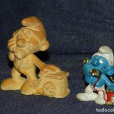 Figuras de Goma y PVC: (M) PITUFOS - FIGURA DE PVC + MOLDE ORIGINAL PARA EFECTUAR LA FIGURA, DISEÑADA POR JAUME CASES. Lote 213165986