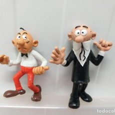 Figuras de Goma y PVC: LOTE 2 FIGURAS PVC MORTADELO FILEMON CON UN PELO BRUGUERA COMICS SPAIN. Lote 213168242