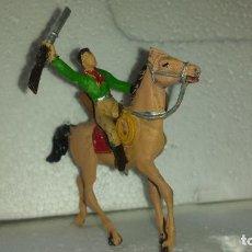 Figuras de Goma y PVC: VAQUERO Y CABALLO DE COMANSI. Lote 213184178
