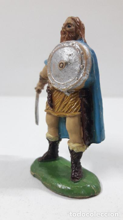 Figuras de Goma y PVC: VIKINGO . REALIZADO POR JECSAN . SERIE VIKINGOS . ORIGINAL AÑOS 50 EN GOMA - Foto 3 - 213211078