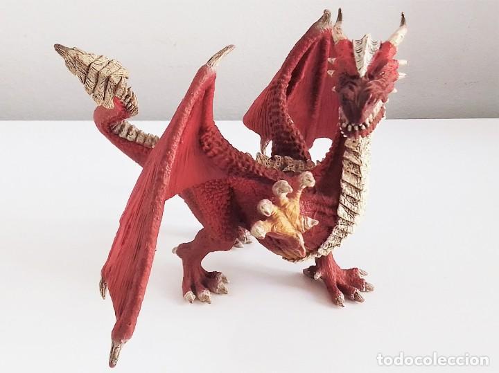 Figuras de Goma y PVC: Figura de Dragón Guerrero de Schleich - Foto 2 - 213249428