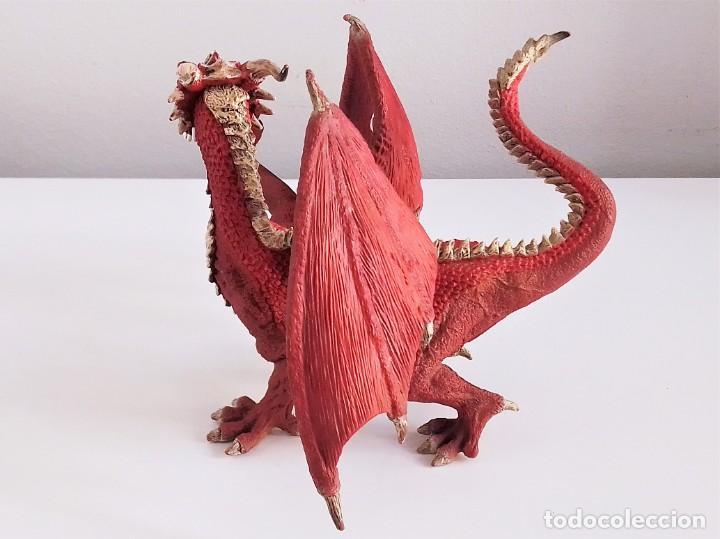 Figuras de Goma y PVC: Figura de Dragón Guerrero de Schleich - Foto 3 - 213249428