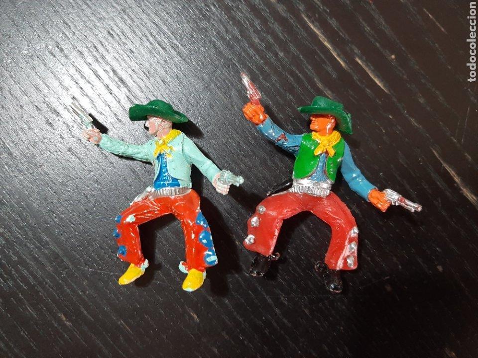 Figuras de Goma y PVC: LOTE DE 53 PISTOLEROS O COWBOY ,COMANSI,SOTORRES,PECH,JECSAN,LAFREDO-PINTADOS A MANO - Foto 2 - 213408567