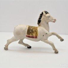 Figuras de Goma y PVC: ANTIGUA FIGURA EN GOMA. CABALLO INDIO. AÑOS 60. MADE IN SPAIN.. Lote 213442898
