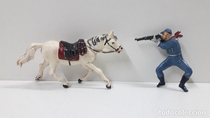 Figuras de Goma y PVC: SOLDADO FEDERAL A CABALLO . REALIZADO POR PECH . ORIGINAL AÑOS 50 EN GOMA - Foto 7 - 213453711