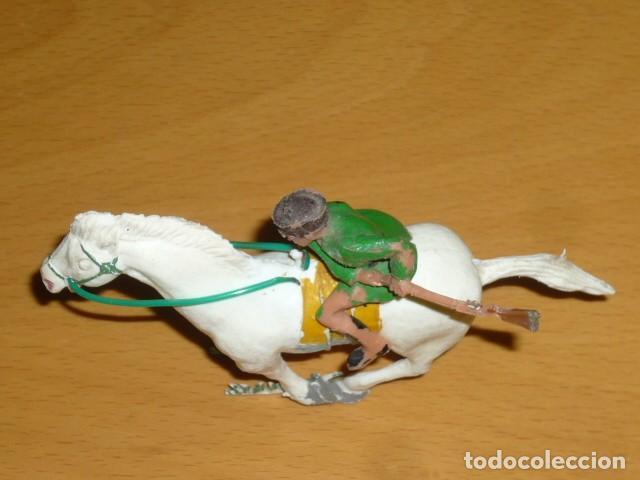 Figuras de Goma y PVC: ESTEREOPLAST COSACO VERDE A CABALLO - Foto 2 - 213523373
