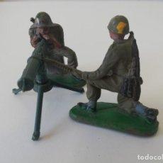 Figuras de Goma y PVC: AMETRALLADORA Y SERVIDORES PECH EN GOMA. Lote 213575720