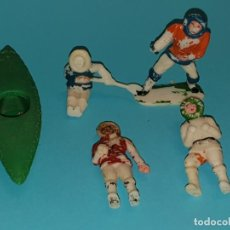 Figuras de Goma y PVC: VARIAS FIGURAS ESQUIMALES Y CANOA DE SOTORRES, AÑO 1957.. Lote 213618176
