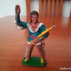 Figuras de Goma y PVC: LAFREDO-INDIO WINNETOU-FABRICADO EN GOMA.MUY ANTIGUO. Lote 213636882