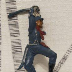 Figuras de Goma y PVC: PECH SOLDADO FEDERAL EN GOMA PARA CABALLO. Lote 213666007