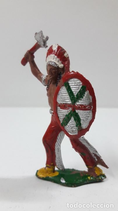 Figuras de Goma y PVC: JEFE INDIO . REALIZADO POR LAFREDO . ORIGINAL AÑOS 50 EN GOMA - Foto 3 - 213675182