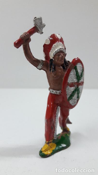 Figuras de Goma y PVC: JEFE INDIO . REALIZADO POR LAFREDO . ORIGINAL AÑOS 50 EN GOMA - Foto 4 - 213675182