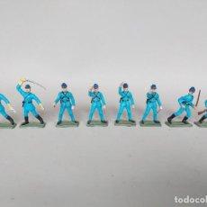 Figuras de Borracha e PVC: LOTE 8 SOLDADOS STARLUX GUERRA CIVIL AMERICANA, EJERCITO NORDISTA, AÑOS 60-70, CON FALTAS. Lote 213772795