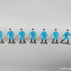 Figuras de Borracha e PVC: LOTE 7 SOLDADOS STARLUX GUERRA CIVIL AMERICANA, EJERCITO NORDISTA, AÑOS 60-70, CON FALTAS. Lote 213773000