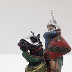 Figuras de Goma y PVC: GUERRERO MEDIEVAL . FIGURA REAMSA Nº 175 . SERIE RICARDO CORAZON DE LEON . ORIGINAL AÑOS 50 EN GOMA. Lote 213806997