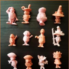 Figuras de Goma y PVC: DUNKIN MAGUILA GORILA HANNA BARBERA LOTE 16 FIGURAS COLECCION COMPLETA. Lote 213861210