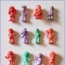 Figuras de Goma y PVC: DUNKIN FRIBONS LOTE DE 16 FIGURAS RAJA PORTUGAL AÑOS 60 COLECCION COMPLETA. Lote 213861323