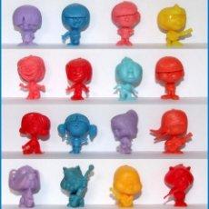 Figuras de Goma y PVC: DUNKIN BEATNIKS CABEZONES POP PALINO LOTE 16 FIGURAS RAJA COLECCION COMPLETA. Lote 213861588