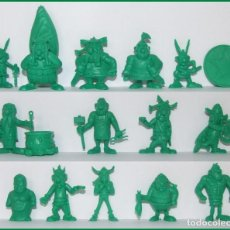 Figuras de Goma y PVC: DUNKIN ASTERIX Y OBELIX UDERZO 80 LOTE DE 17 FIGURAS. Lote 213864022