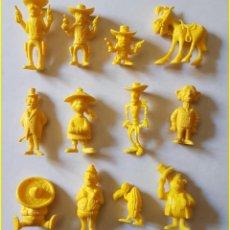 Figuras de Goma y PVC: DUNKIN LUCKY LUKE FIGURAS ELEGIR COLOR AMARILLO * PRECIO UNITARIO. Lote 213864711