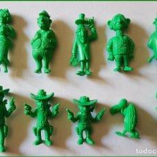 Figuras de Goma y PVC: DUNKIN LUCKY LUKE FIGURAS ELEGIR COLOR VERDE * PRECIO UNITARIO. Lote 213864740