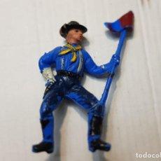 Figuras de Goma y PVC: FIGURA DESCABEZADO JECSAN ABANDERADO A CABALLO ESCASA. Lote 213883440